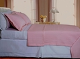 Blush/Pink Checkered Coverlet Set Egyptian cotton 400 Thread count Reversable(Twin Size)