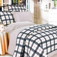 [Red Black Plaid] 100% Cotton 4PC Duvet Cover Set (King Size)
