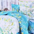 [Blooming Orchid] 100% Cotton 5PC Comforter Set (King Size)
