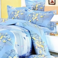 [Tender Blue] 100% Cotton 4PC Comforter Set (Twin Size)