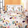 [Peony in Spring] 100% Cotton 4PC Comforter Set (Twin Size)