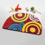 Naomi - [Sweet Doughnut] Beautiful Room Rugs (15.7 by 24.8 inches)