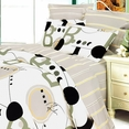 [Rhapsody of Youth] 100% Cotton 4PC Comforter Set (Twin Size)