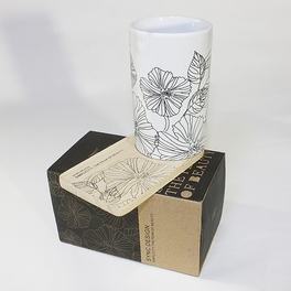 [Lotus Leaves] Graphic Mug / Wood Coaster - No Handle (4.4 inch height)