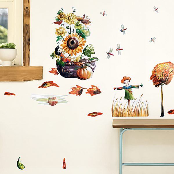 Falling Season - Wall Decals Stickers Appliques Home Decor Blancho Bedding