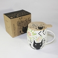 [Kitty Carnival] Coffee Mug / Wood Lid (4.2 inch height)