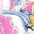 [Romantic Story] 100% Cotton 5PC Comforter Set (King Size)