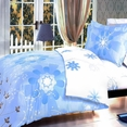 [Transparent Crystal] 100% Cotton 4PC Duvet Cover Set (King Size)
