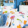 [Colorful Mushroom] 100% Cotton 5PC Comforter Set (Full Size)