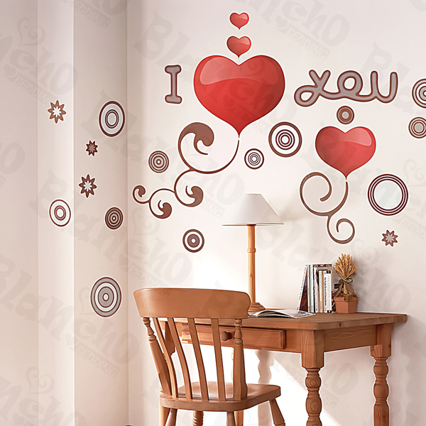 i-love-u - large wall decals stickers appliques home decor