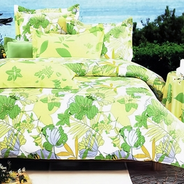 [Field of Spring] 100% Cotton 4PC Duvet Cover Set (King Size)