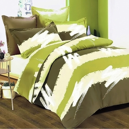 [Cappuccino] 100% Cotton 4PC Duvet Cover Set (Full Size)