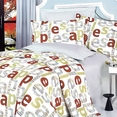 [Apple Letter] 100% Cotton 4PC Duvet Cover Set (Full Size)