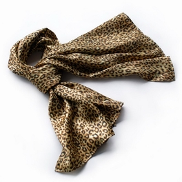 Brando Chic Leopard Grain Color Super Soft Silk Scarf/Wrap/Shawl(Small)