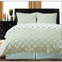 [Ivory & Linen] 2PC Bloomingdale Duvet Cover Set (Twin /Twin XL)