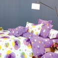 [Pink Purple Neon] 100% Cotton 4PC Duvet Cover set (King Size)