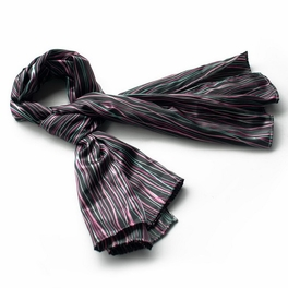 Brando Black Irregular Stripe Chic Exquisitely Soft Luxuriant Silky Scarf/Wrap/Shawl(Small)