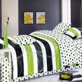 [Green Olive] 100% Cotton 4PC Duvet Cover set (Queen Size)