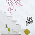 Bike & Flowers - Large Wall Decals Stickers Appliques Home Decor