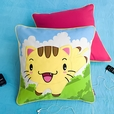 [Kitty Meow] Embroidered Applique Pillow Cushion / Floor Cushion (19.7 by 19.7 inches)