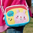[Pink Rabbit] Embroidered Applique Swingpack Bag Purse / Wallet Bag / Shoulder Bag (5.5*4.7*1.2)