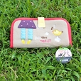 [All You Need] Embroidered Applique Fabric Art Wallet Purse / Card Holder / ID Holder (7.1*3.7)
