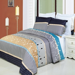 [Manhattan Printed Multi] 4PC Comforter Set (Full/Queen)