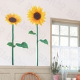 Bike & Sunflower - Large Wall Decals Stickers Appliques Home Decor