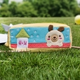 [Dog's Home] Embroidered Applique Pencil Pouch Bag / Cosmetic Bag / Carrying Case (7.5*2.8*1.4)