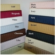 Queen 300 Stripe Waterbed Sheet Set with Pole Attachment