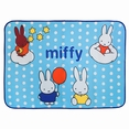 [Miffy - Blue] Coral Fleece Baby Throw Blanket (28.7 by 39.4 inches)