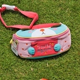 [Smile Puppy] Embroidered Applique Kids Fanny Waist Pack / Travel Lumbar Pack (7.1*3.1*2.8)