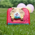 [Tarro story - Yellow Cat] Embroidered Applique Fabric Art Wallet Purse / Card Holder (4.9*3.9)