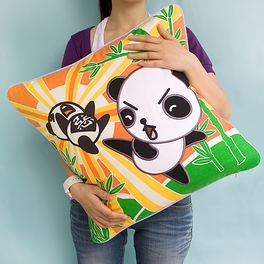 [Kung Fu Panda] Embroidered Applique Pillow Cushion / Floor Cushion (19.7 by 19.7 inches)