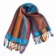 Pa-301-1 Exquisite Stripes Nation totem Revitalized Style Tassel Ends Silk Pashmina/Shawl/Scarf