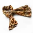 Brando Gold Leopard & Rose Floral Pattern Stylish super soft Silk Scarf/Wrap/Shawl(Large)