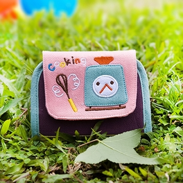 [Cooking] Embroidered Applique Card Holder / ID Holder / Coin Purse Wallet (4.6*3.5)