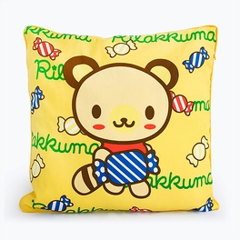 [Yellow Candy Bear] Decorative Pillow Cushion / Floor Cushion (15.8 by 15.8 inches)