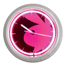 "15"" Pink Playboy Bunny Iconic Clock"