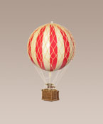 Floating The Skies, Red Hanging Hot Air Balloon Small