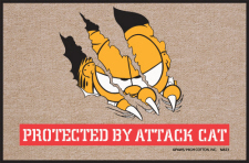 Garfield Doormat Protected by Attack Cat