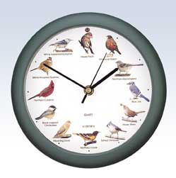 Singing Bird Clock - 8 inch green