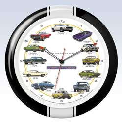 Muscle Car Clock - 13 inch