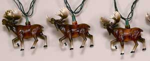 Moose Christmas Party Light Set