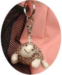 Baby Turtle Keychain by Sock Monkey