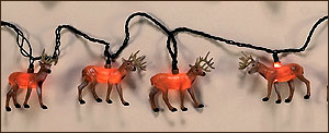 Deer Christmas Lodge Light Set