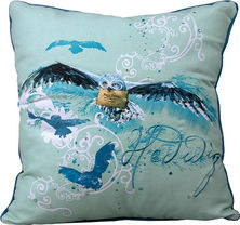 "Harry Potter Hedwig 14"" x 14"" Decorative Throw Pillow"