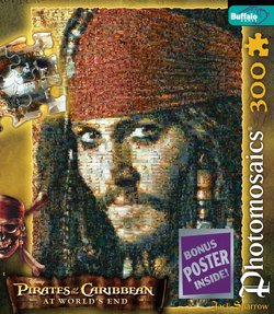 Captain Jack Sparrow Pirates of the Caribbean 300 Piece Photomosaic Puzzle