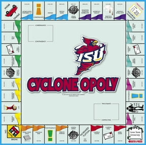 CycloneOpoly Iowa State Opoly Board Game
