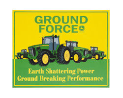 John Deere Ground Force Wooden Sign